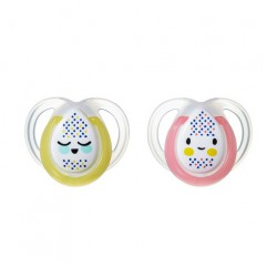 Tommee Tippee Night Time Orthodontic Soother 0-6M...