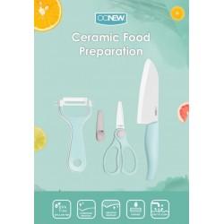 Oonew Ceramic Food Preparation Set 3 Pcs (Peeler,...