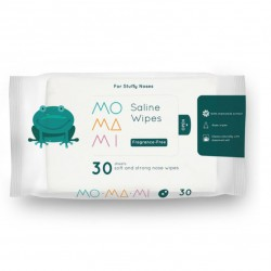 Momami Saline Wipes 30 Sheets - Fragrance Free