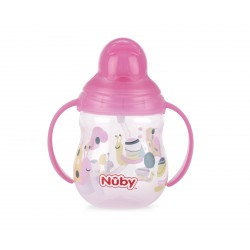 Nuby Flip-it Twinhandle Weighted Straw 270ml -...