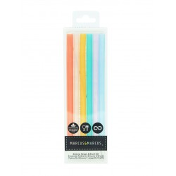 Marcus & Marcus Silicone Straw & Brush Set