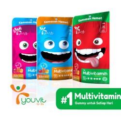 Youvit Gummy Multivitamin Anak 30 Days - Rasa Mix