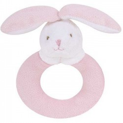 Angel Dear Ring Rattle - Pink Bunny