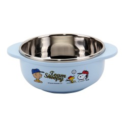 Lock & Lock Snoopy Baseball Stainless Rice Bowl with Handle