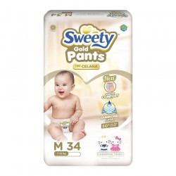 Sweety Popok Bayi Pantz Royal Gold - M 34