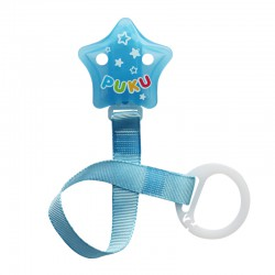 Puku Pacifier / Soother Clipper - Blue Star