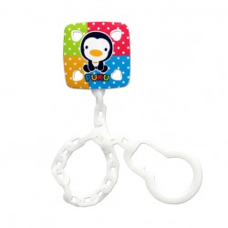 Puku Pacifier / Soother Clipper - White