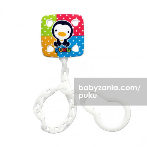 Puku Pacifier Chain - White