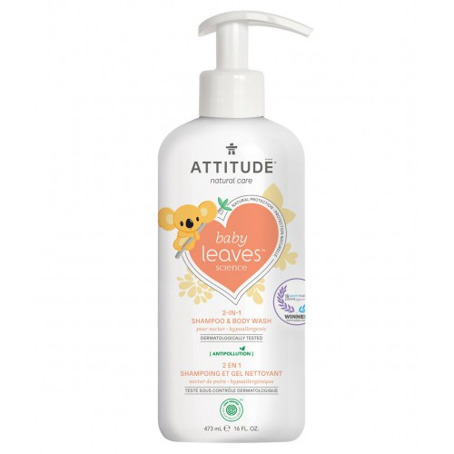 Attitude Baby Leaves 2 in 1 Shampoo & Body Wash 473 ml - Pear Nectar