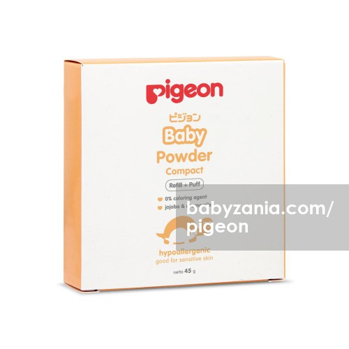Pigeon Baby Powder Compact Refill + Puff - 45 gr