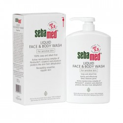 Sebamed Liquid Face And Body Wash Pump Pembersih...