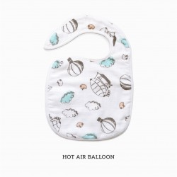 Little Palmerhaus Snappy Bib - Hot Air Baloon