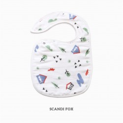 Little Palmerhaus Snappy Bib - Scandi Fox