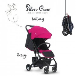 Silver Cross Wing Stroller - Berry
