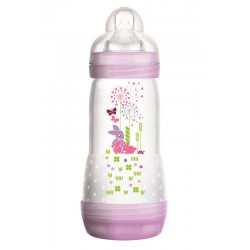 MAM Anti Colic Bottle 260ml - Purple (Motif...