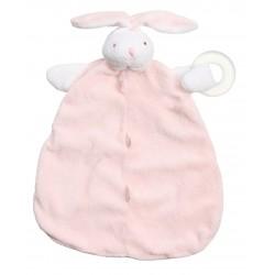 Angel Dear Teether Blankie - Pink Bunny