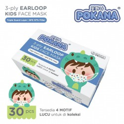 Pokana Masker Anak Surgical Earloop Kids Mask...