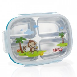 Nuby Insulated Stainless Steel Lunch Box - Blue