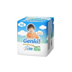 Nepia Genki Premium Baby Diapers Soft - Pants XXL...
