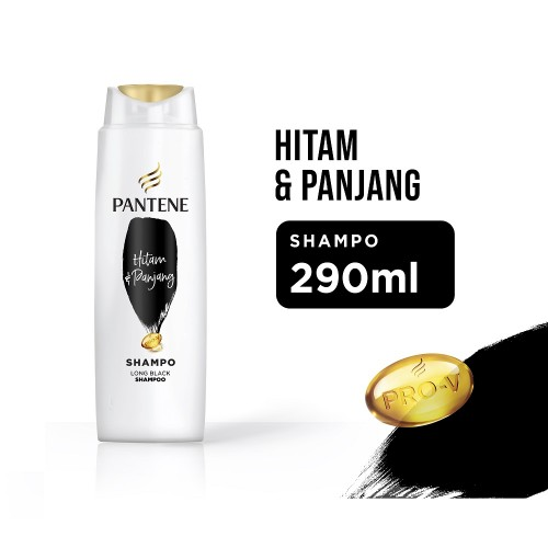 Pantene Shampoo Long Black - 290 ml