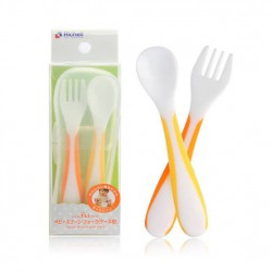 Richell Baby Spoon & Fork With Case / Sendok...