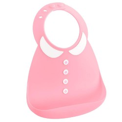 Make My Day Baby Bib - Peter Pan Pink