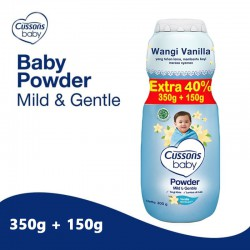 Cussons Baby Powder Mild and Gentle - 350+150gr