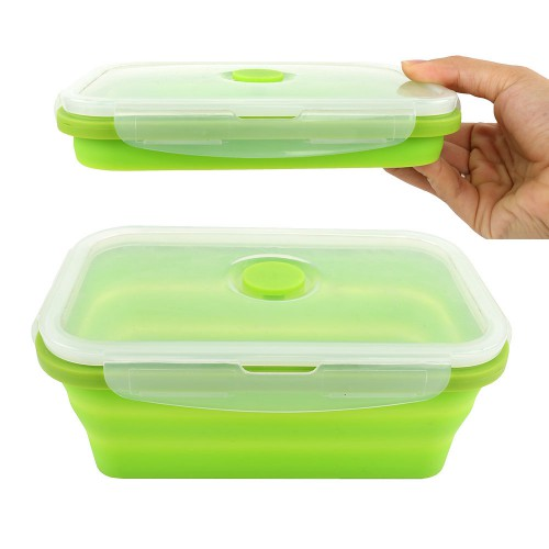 Baby Safe Collapsible Food Container 540ml - Green