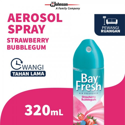 Bayfresh Aerosol Pengharum Ruangan 320ml - Strawberry Bubblegum (JABODETABEK ONLY)