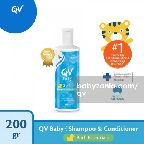 QV Baby 2 in 1 Shampoo and Conditioner - 200 gr