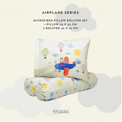Mooi Bantal Guling Set - Airplane