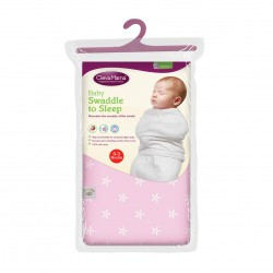 ClevaMama Baby Swaddle To Sleep 0-3 Months - Pink