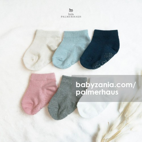Little Palmerhaus Basic Short Socks with Anti Slip Kaos Kaki Pendek Anak