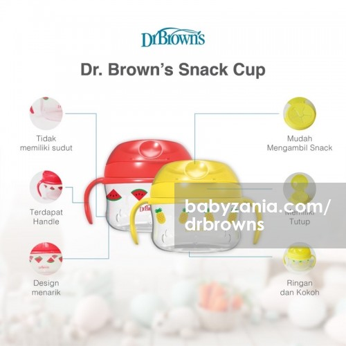 Dr. Brown's Snack Cup Tempat Snack Anak - Yellow / Red