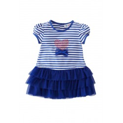 Torio Calming Blue Banded Dress