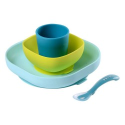 Beaba Silicone Meal Set - Blue