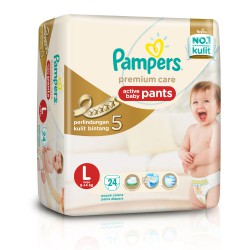 Pampers Popok Premium Care Active Baby Pants - L...