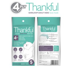 Thankful 4 Ply Masker Anak Kids Mask - Earloop 5...