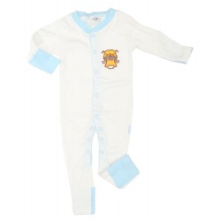 Imochi Sleepsuit Panjang - Blue White Dog