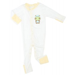 Imochi Sleepsuit Panjang - White Yellow Hippo