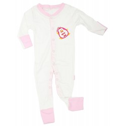 Imochi Sleepsuit Panjang - Pink White Penguin