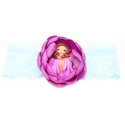 Emily Labels Headband Flower with Fairy - Purple