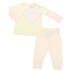 Cribcot TPS Long Light Pink Yellow Pink Stripes
