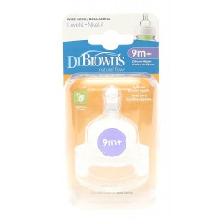 Dr. Brown's Wide Neck Option Silicone Nipple 2...