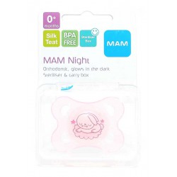 MAM Night Orthodontic Pacifier / Soother 0m+-...