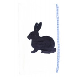 Cribcot Kit Towel - Rabbit Navy