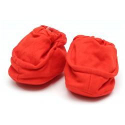 Cribcot Booties Plain - Hot Red