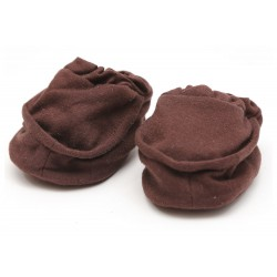 Cribcot Booties Plain - Coffee Brown