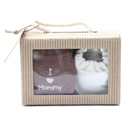 Cribcot Gift Set Booties Plain Broken White &...
