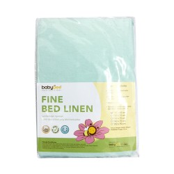 Babybee Fine Bed Linen Tosca Mint Stripes - 95x65...